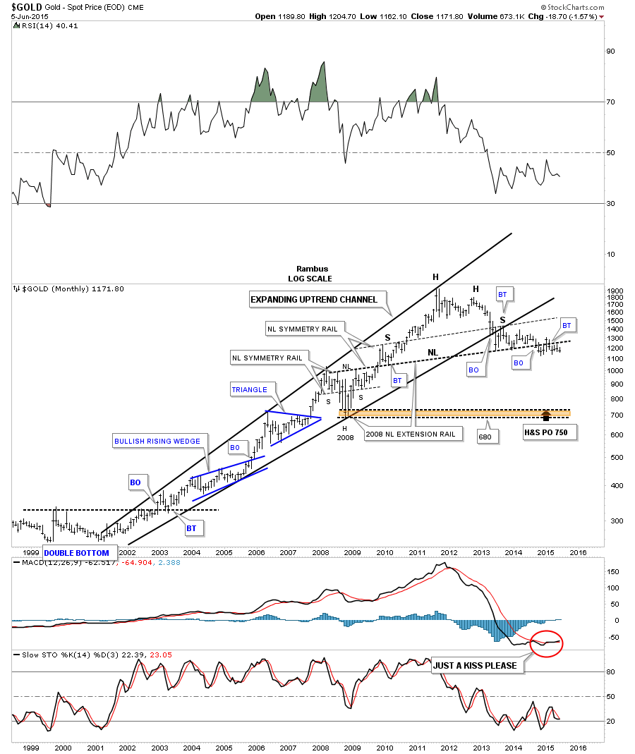 gold monthly h&s top